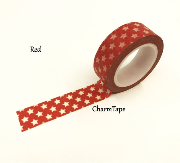Holiday mini Stars on Washi Tape 15mm x 10m WT204 - CharmTape - 9