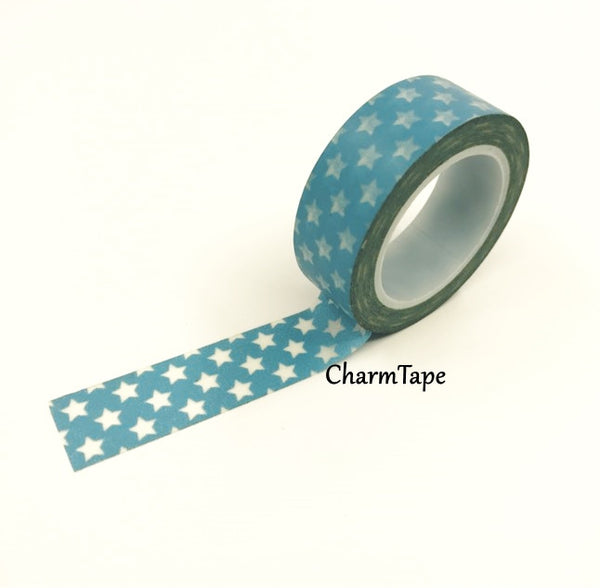 Holiday mini Stars on Washi Tape 15mm x 10m WT204 - CharmTape - 11