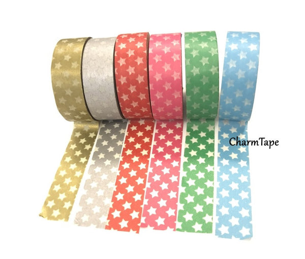 Holiday mini Stars on Washi Tape 15mm x 10m WT204 - CharmTape - 3