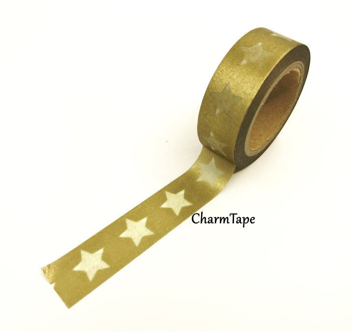 White Stars Washi Tape WT209 - CharmTape - 5