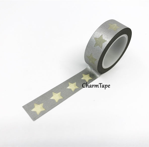 White Stars Washi Tape WT209 - CharmTape - 9