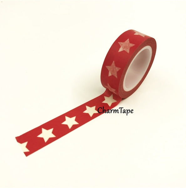 White Stars Washi Tape WT209 - CharmTape - 6