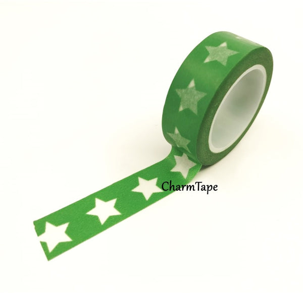White Stars Washi Tape WT209 - CharmTape - 7