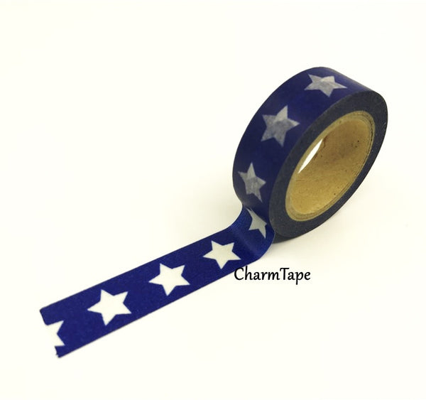 White Stars Washi Tape WT209 - CharmTape - 8