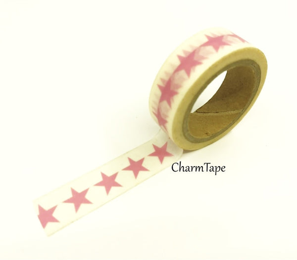 Stars Washi Tape 15mm x 10m WT117 - CharmTape - 11