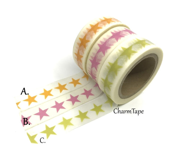 Stars Washi Tape 15mm x 10m WT117 - CharmTape - 1