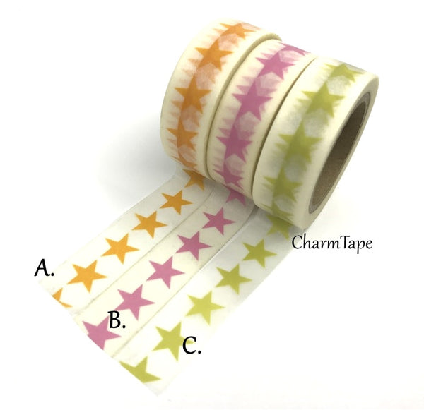 Stars Washi Tape 15mm x 10m WT117 - CharmTape - 2