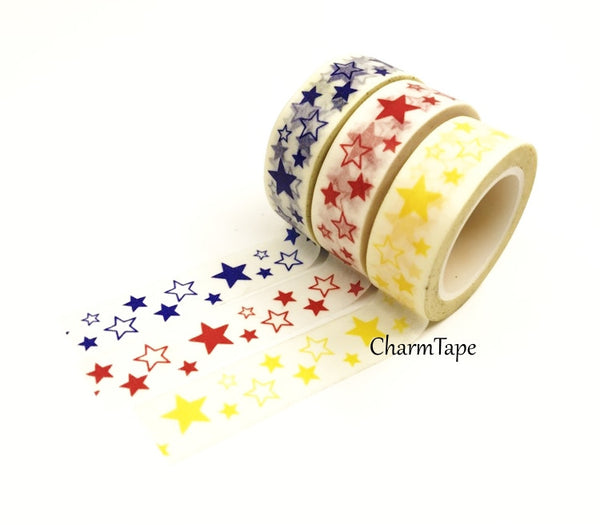 Stars Washi Tape 10m x 15mm WT35 - CharmTape - 10