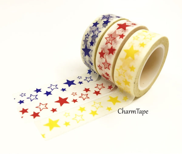 Stars Washi Tape 10m x 15mm WT35 - CharmTape - 3