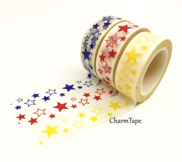 Stars Washi Tape 10m x 15mm WT35 - CharmTape - 2