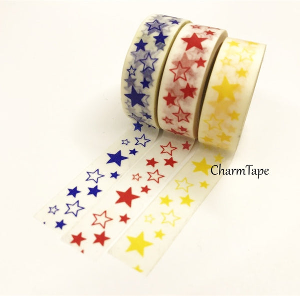 Stars Washi Tape 10m x 15mm WT35 - CharmTape - 1