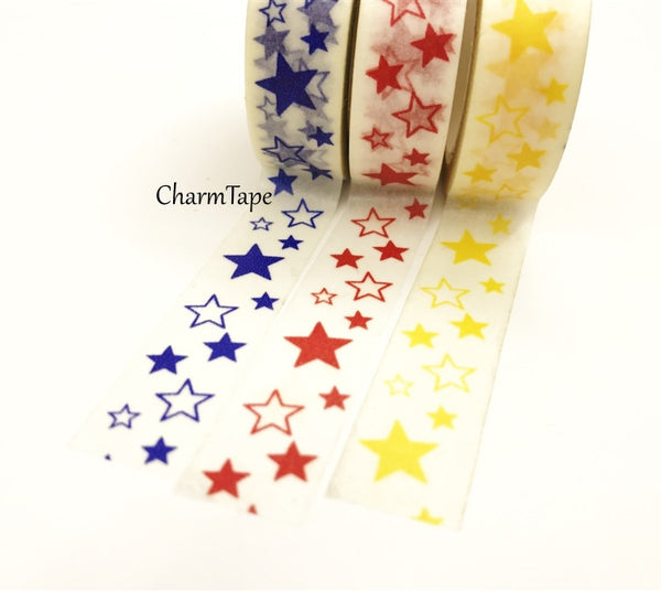 Stars Washi Tape 10m x 15mm WT35 - CharmTape - 4