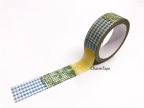 Triangles & Patchwork Washi Tape 15mm 2 Rolls set WT976 - CharmTape - 4