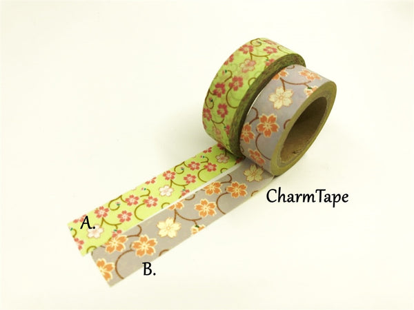 Sakura Flowers Washi Tape 15mm x 10m WT858 CRAZY SALE