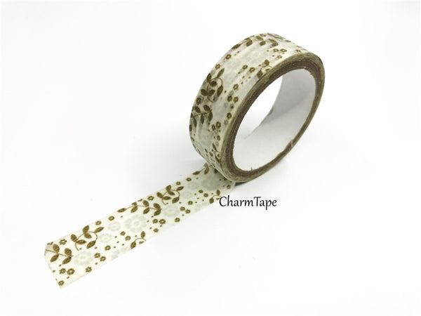 Washi Tape - Mini Flowers 15mm x 10m WT639 WT977 WT978