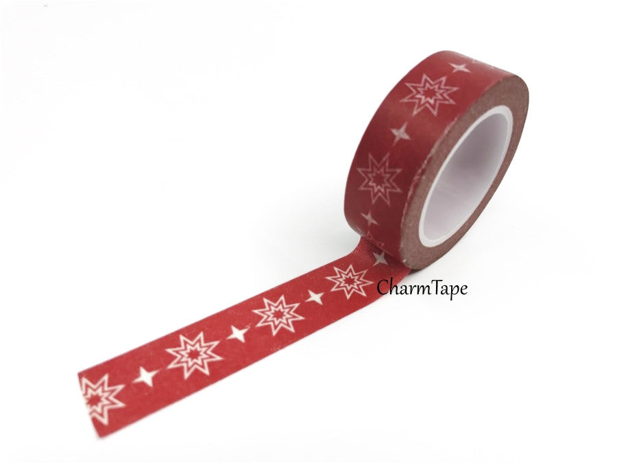 SALE Washi tape - Festive Double Star (15mm x 10m) WT460 - CharmTape - 1