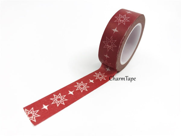 SALE Washi tape - Festive Double Star (15mm x 10m) WT460 - CharmTape - 2