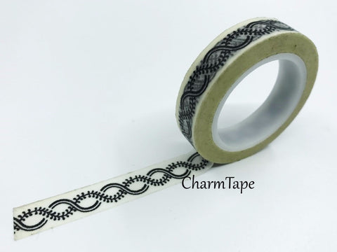 Black Knot Chain Washi Tape 10mm x 11 yards WT343 - CharmTape