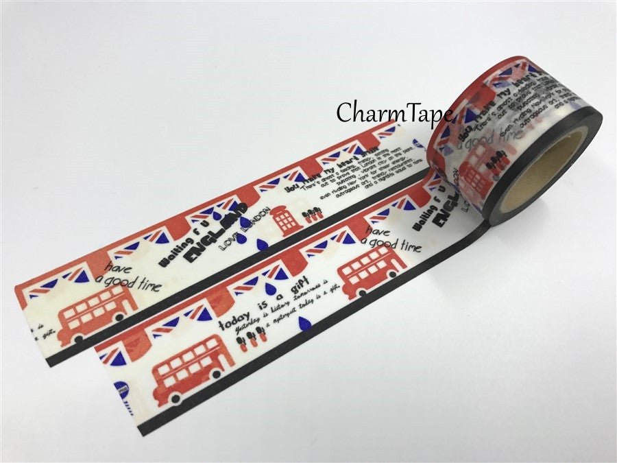London Big Washi Tape - 30mm x 10 meters WT395 - CharmTape - 1