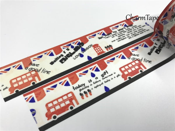 London Big Washi Tape - 30mm x 10 meters WT395 - CharmTape - 2