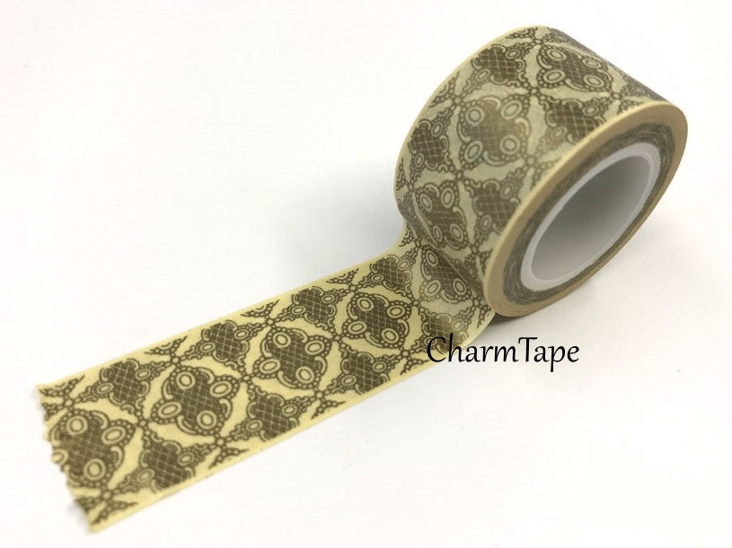 Big Washi Tape Gold kaleidoscope (25mm x 10m) WT681 - CharmTape - 1