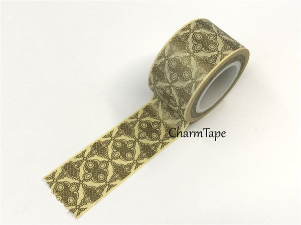 Big Washi Tape Gold kaleidoscope (25mm x 10m) WT681 - CharmTape - 2
