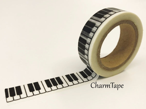 Piano Keys Washi tape 15mm x 11 yards WT414