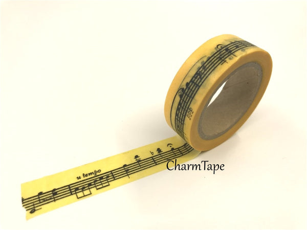 Piano Musical Notes Washi Tape 15mm x 10m WT83 - CharmTape - 4