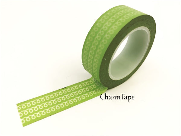 White Swirls Washi Tape 15mm x 10m WT77 - CharmTape - 5