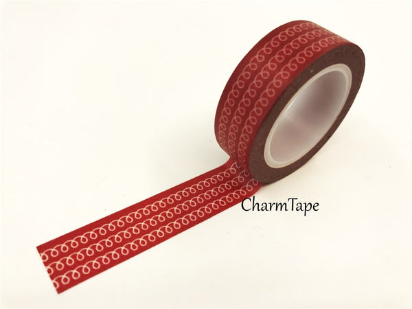White Swirls Washi Tape 15mm x 10m WT77 - CharmTape - 6