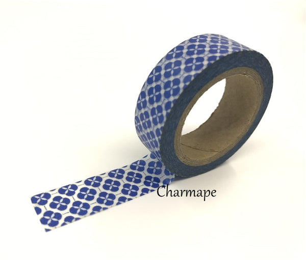 Floral Motif Washi Tape 15mm x 10 meters WT114 - CharmTape - 4