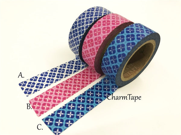 Floral Motif Washi Tape 15mm x 10 meters WT114 - CharmTape - 2