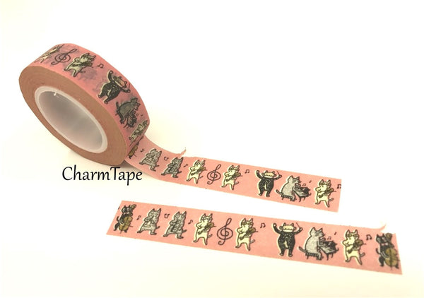 Cat Band Washi Masking Tape 15mm x 10m WT81 - CharmTape - 3