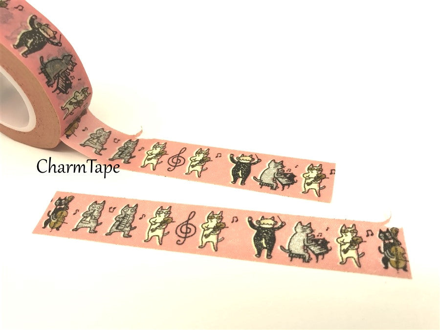 Cat Band Washi Masking Tape 15mm x 10m WT81 - CharmTape - 4