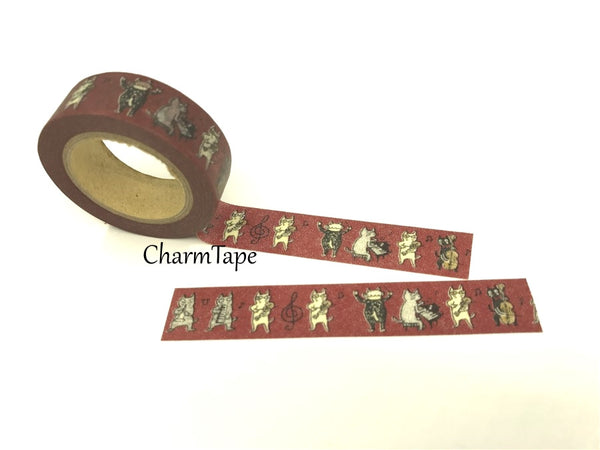 Cat Band Washi Masking Tape 15mm x 10m WT81 - CharmTape - 5