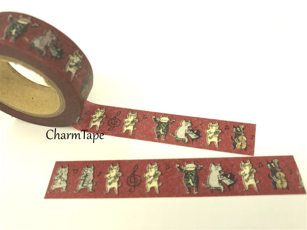 Cat Band Washi Masking Tape 15mm x 10m WT81 - CharmTape - 6