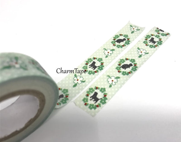 Washi Tape - Animal Silhouette 15mm x 8 meters WT583 - CharmTape - 3