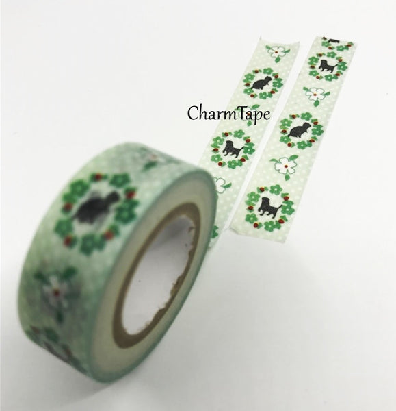 Washi Tape - Animal Silhouette 15mm x 8 meters WT583 - CharmTape - 1