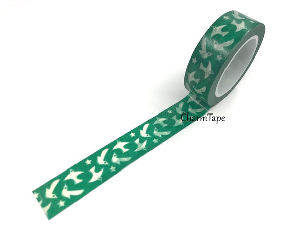 White Dove Washi Tape 15mm x 10 meters WT984 - CharmTape - 2