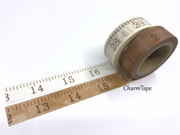 Washi tape Measuring Tape Numbers - 15mm Wide 10 meters WT723