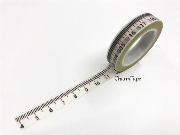 Measuring Tape Washi Tape 10mm x 10m WT97 - CharmTape - 4