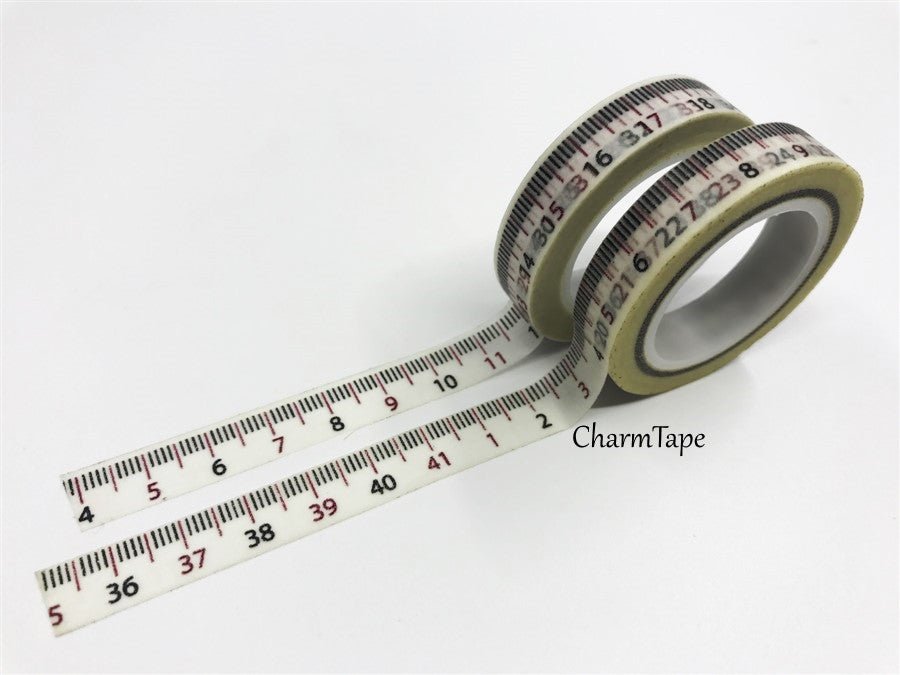 Measuring Tape Washi Tape 10mm x 10m WT97 - CharmTape - 1