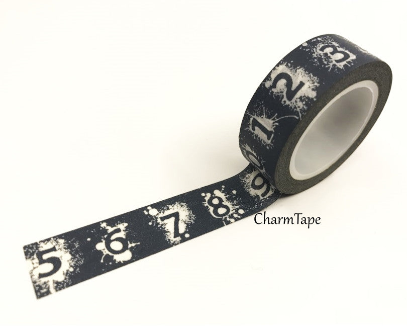 Number Navy Washi Tape 1.5 cm x 10 meters WT258 - CharmTape