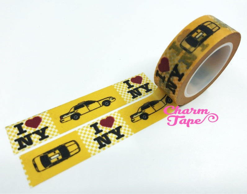 I love NY Washi tape - 15 mm Wide - 10 meters  WT779 - CharmTape