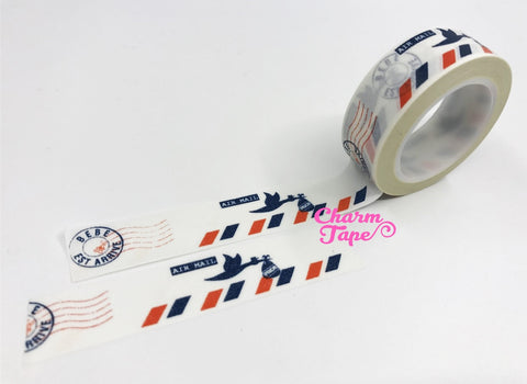 Bird & Airmail Washi Tape 15mm x 10 meters WT689 - CharmTape - 1