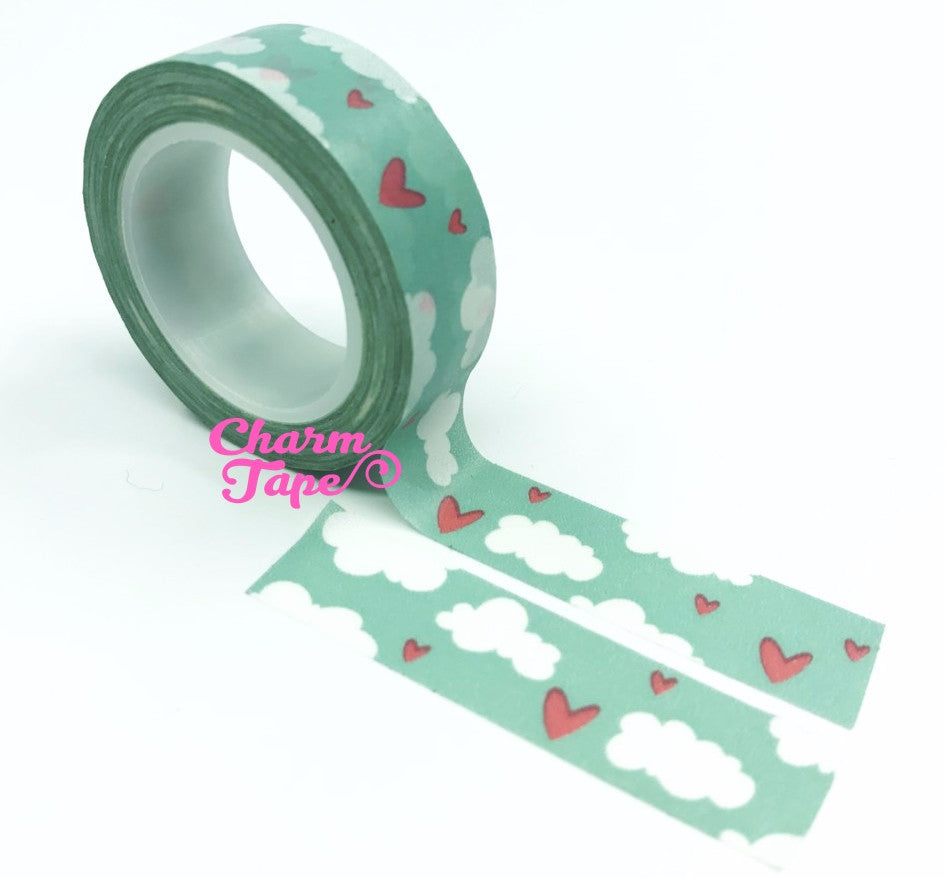 Sky & Cloud Washi Tape 15mm x 10 meters WT985 - CharmTape - 1