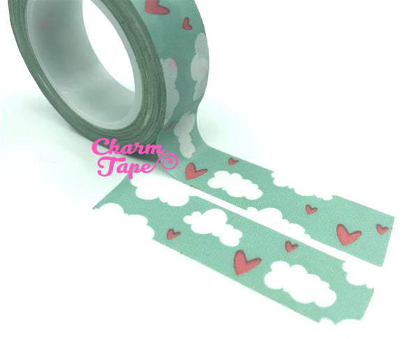 Sky & Cloud Washi Tape 15mm x 10 meters WT985 - CharmTape - 2