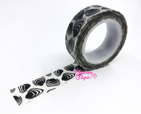 Black Sea Shell Washi Tape 15mm WT404