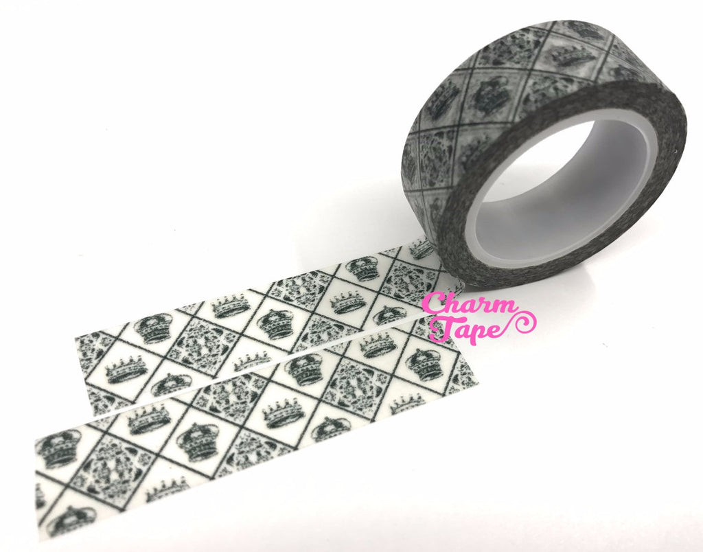 Crown diamond pattern Washi Masking Tape 15mm x 10m WT378