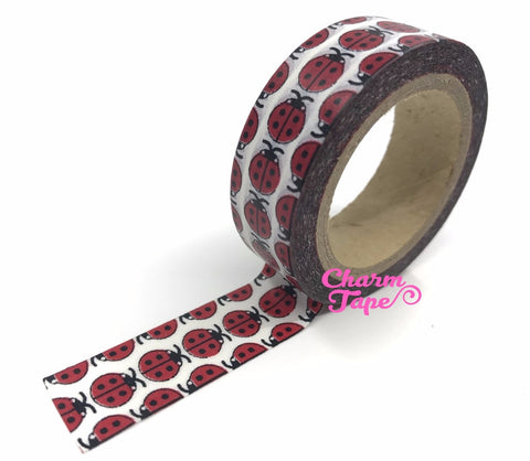 Ladybirds Ladybugs Washi tape 15mm Wide - 10 meters  WT729